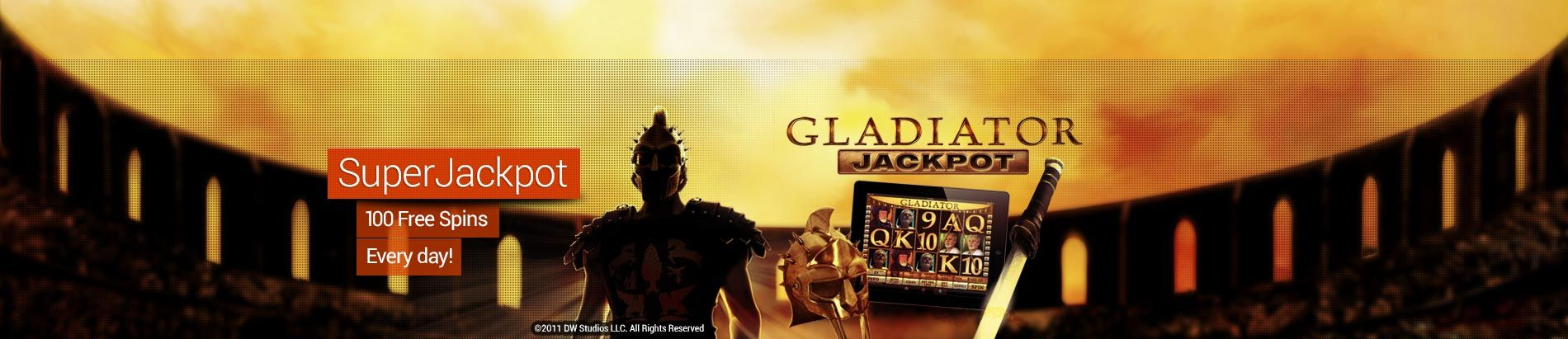 gladiator jackpot free spins