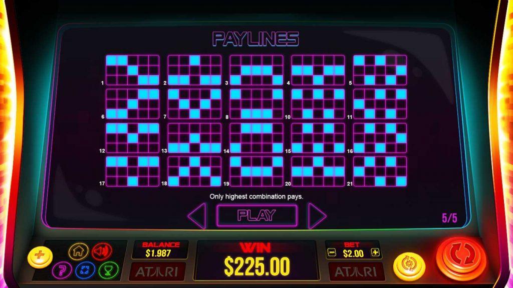 winlijnen pong feature