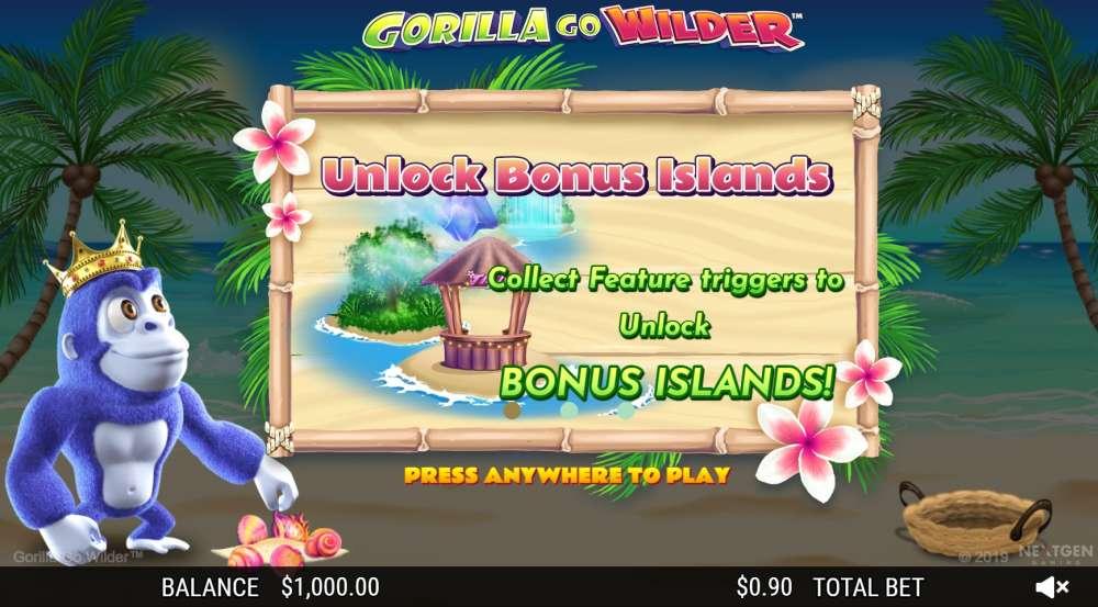 Gorillas Go Wilder bonus