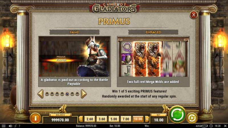 Game of Gladiators Fame Primus