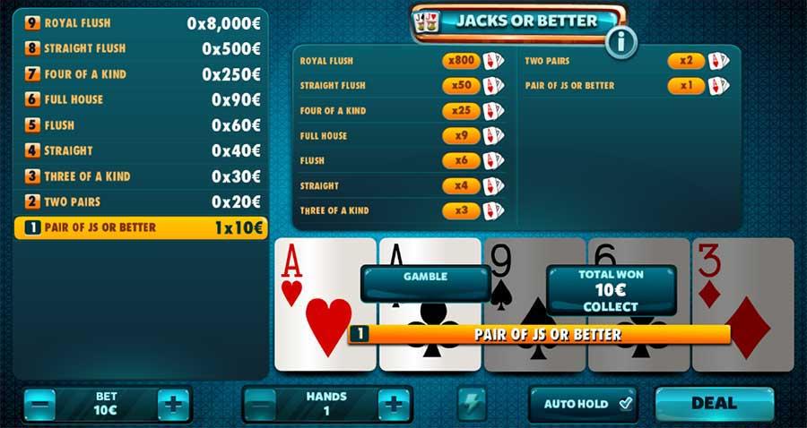 online videopoker Jacks or Better