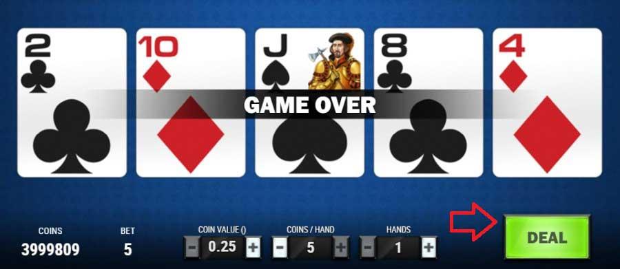 video poker delen